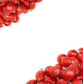 Red christmas ornament background — Stock Photo
