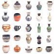 Collection of ceramic pots - Stock Photo