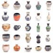 Stock Photo: Collection of ceramic pots