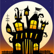 Stock Vector: Haunted Castle