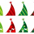 Stock Vector: Contemporary Christmas tree collection