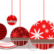 Christmas Ornaments in Red - Stock Vector