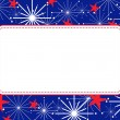 Fourth of July Fireworks Frame - Stock Vector