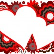 Vector de stock : Red Heart Frame
