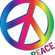 Peace Sign and Peace Text — Stock Vector #6349977