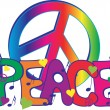 Peace Sign and Peace Text — Stock Vector #6349982