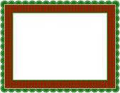 Christmas Gingham Frame — Stock Vector