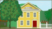 Colonial House — Stock Vector