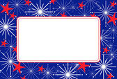 Fourth of July Fireworks Frame — Stock Vector