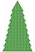 Country Christmas Tree — Stock Vector