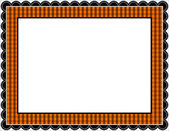 Halloween Gingham Frame — Stock Vector