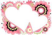 Pink Heart Frame — Stock Vector