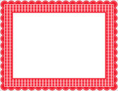 Gingham Frame — Stock Vector