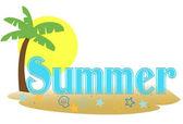 Texte de l'été — Vecteur
