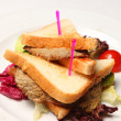 Sandwich on a Plate — Stock Photo