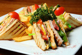 Sandwiches on a Plate — Stockfoto
