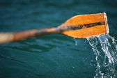 Oar in the Water (Croatia, Plitvice Lakes) — Stock Photo
