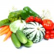 Fresh vegetables, isolated on white — Stock Photo