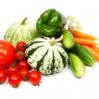 Fresh vegetables, isolated on white — Stockfoto