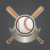 Baseball Design Element Set 2 — Stock Vector