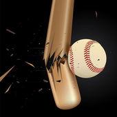 Baseball Design Element Set 3 — Stock Vector