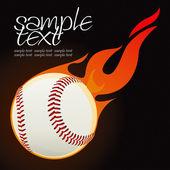Baseball fire ball — Stock Vector