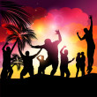 Royalty-Free Stock Vector Image: Sunset Beach Party Vector