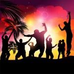 Sunset Beach Party Vector — Stock Vector
