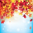 Autumn Leaves Falling — Stock Vector