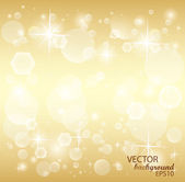 Gold Christmas Baskground — Vector de stock