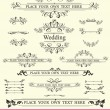 Vintage Wedding Elements — Stock Vector