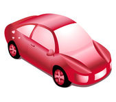 Red girl automobile — Stock Vector