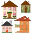Set of clip art houses — Stock Vector