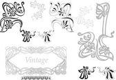 Vintage black decorative pattern — Stock Photo