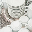 Pile tea tableware — Stock Photo #5896305