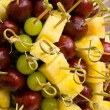 Any fresh fruit on skewer — Stock Photo