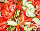 Fresh slice vegetables — Stock Photo