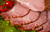 Cut meat delicious with cerry — Stock Photo