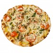 Round pizza — Stock Photo
