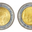 Retro coin of italy — Stock Photo