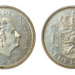 Rare retro coin of netherlands — Stock Photo