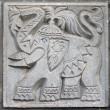 Old bas-relief of fairytale elephant — Stock Photo #5763659