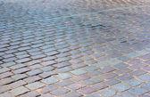 Old granite pavement — Stock Photo