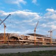 Building a new stadium - Stockfoto