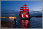 "Holiday ""Scarlet sails"" in St.Petersburg, Russia. — Stock Photo"