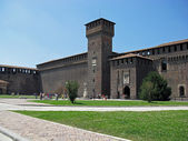 The Sforzesco Castle, Milan, Italy. — Stock Photo