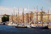 Ships in berth during The Tall Ships Races Baltic — Stock Photo