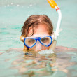 Snorkeling an idyllic tirquoise water — Stock Photo #6139213