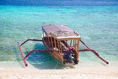 Bali boat, Gili island beach, Indonesia — Stock Photo