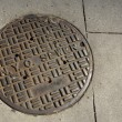 Stock Photo: NYC sewer manhole